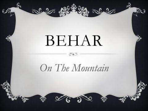 Torah Portion BeHar 20May17 Dr Benjamin Shadwick